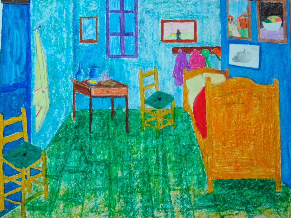 La Habitación De Van Gogh El Cuadrado Azul